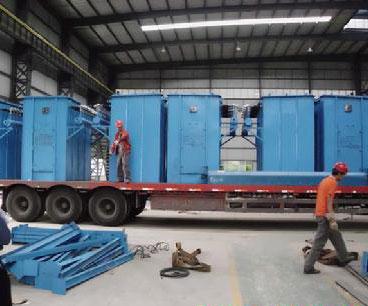 水泥厂单机除尘器准备装车
